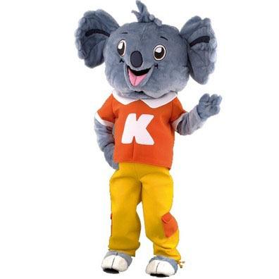 Complete koala mascotte