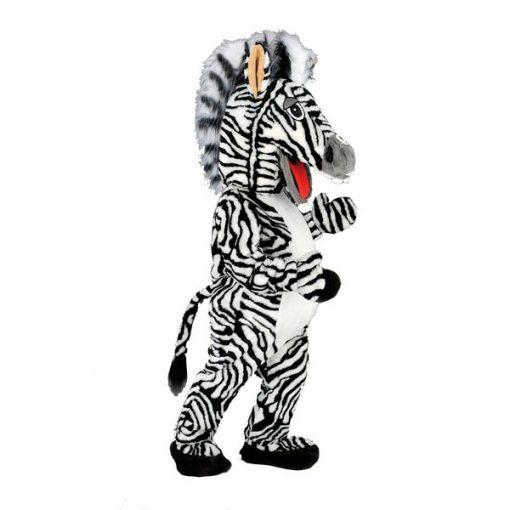 Complete zebra mascotte
