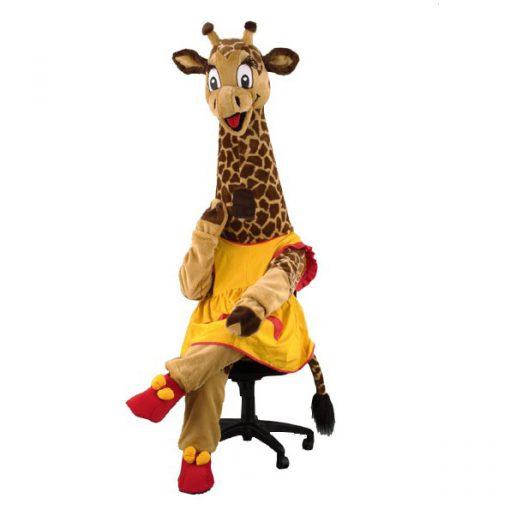 Complete giraffe mascotte
