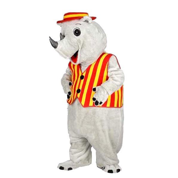 Complete neushoorn mascotte