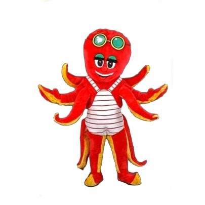 Complete octopus mascotte