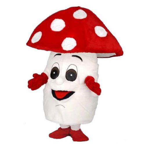 Complete paddenstoel mascotte