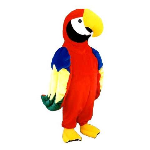 Complete papegaai mascotte