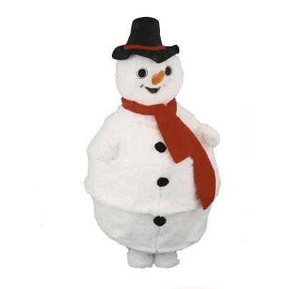 Complete sneeuwman mascotte