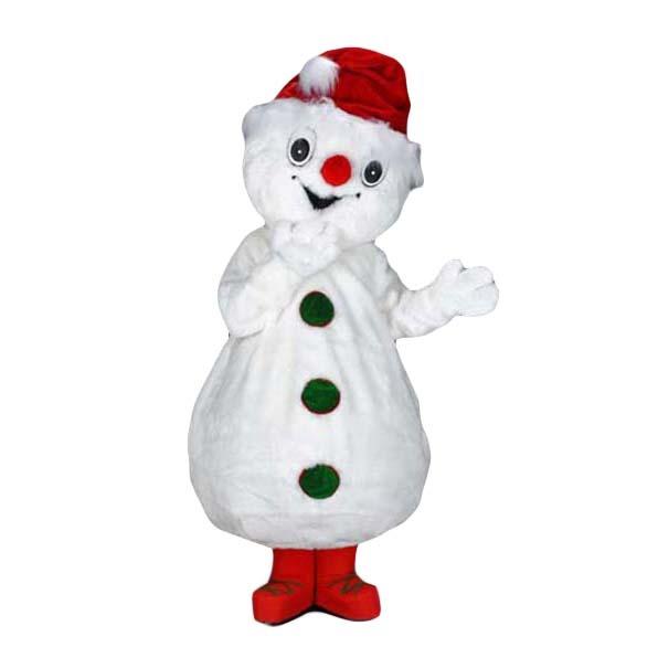 sneeuwpop mascotte, sneeuwpoppak