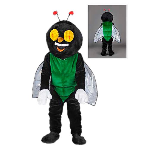 vliegenpak vlieg mascotte