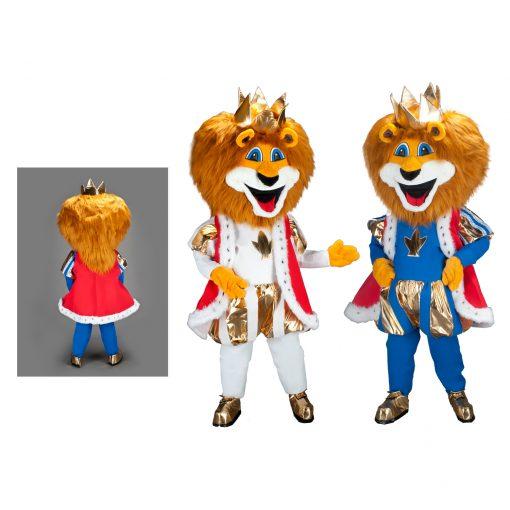 leeuwenpak leeuw mascotte.