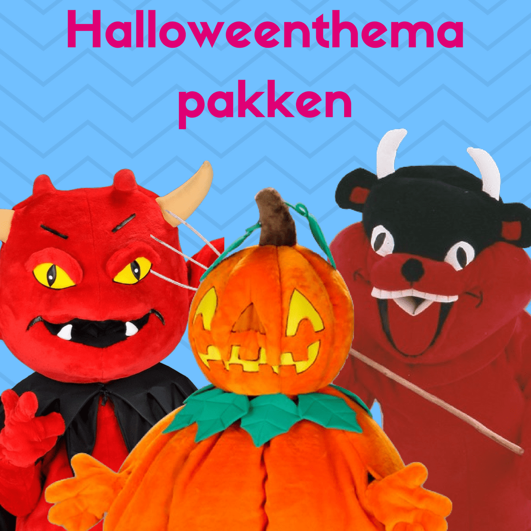 Halloweenthema mascotte