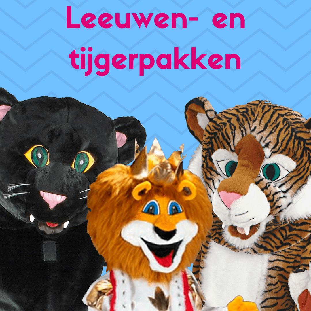 Leeuwen- en tijgerpakken