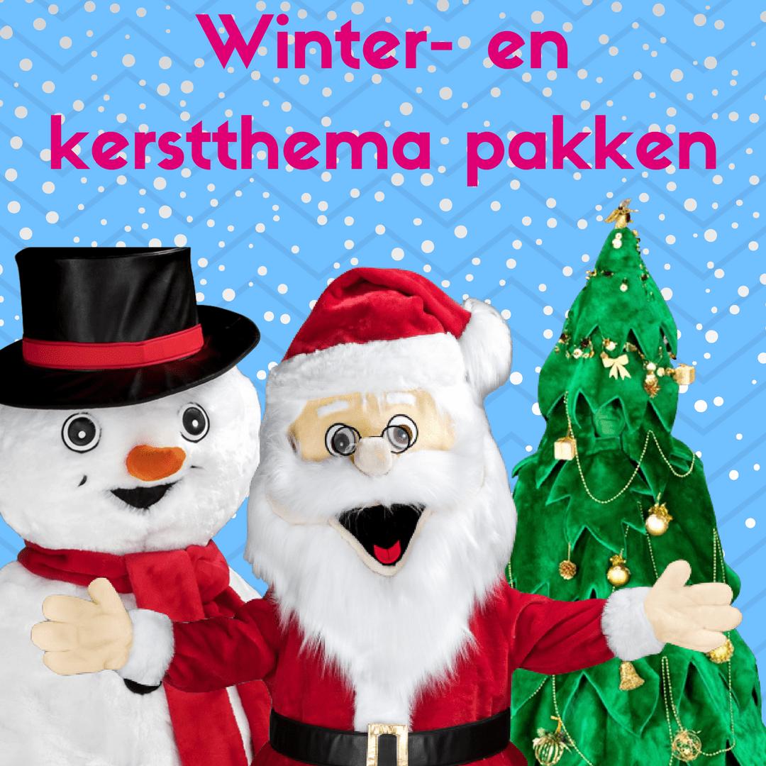 Winter- en kerstthema mascotte